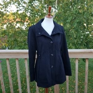 Nine West Black Wool Pea Coat